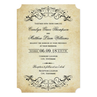 vintage wedding invitations  announcements  zazzle, Wedding invitations