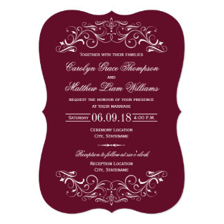 Elegant Silver Red Wedding Gifts On Zazzle