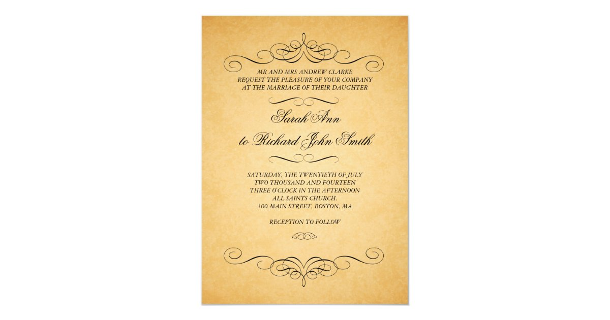 Flourish Wedding Invitations: Vintage Wedding Invitations Swirls Flourish