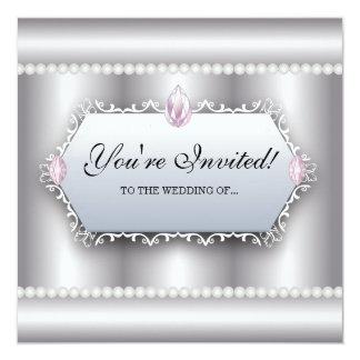 Vintage Wedding Invite Pearls Elegant Romantic