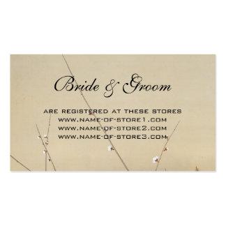 Vintage Wedding, Japanese Owl and Plum Tree Business Card
