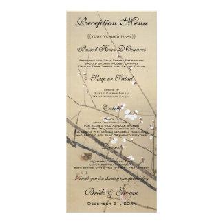 Vintage Wedding, Japanese Owl and Plum Tree Rack Card