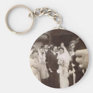 Vintage Wedding Keychain
