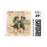 Vintage Wedding Kittens Postage