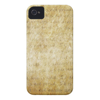 Vintage  Wedding Love is Patient iPhone 4 Covers