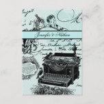 Vintage Wedding Love Letters RSVP Card
