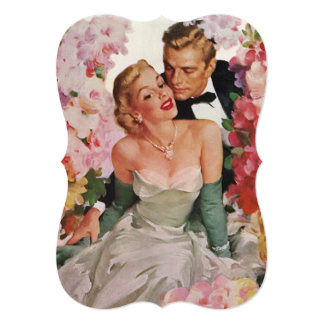 Vintage Wedding Newlyweds Bridal Shower Invitation