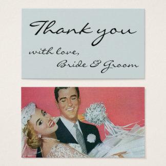 Vintage Wedding Newlyweds, Bride& Groom Thank You Business Card