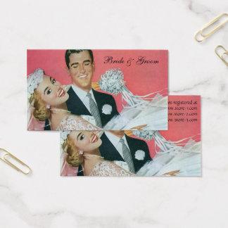 Vintage Wedding Newlyweds, Groom Carrying Bride Business Card