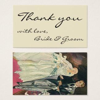 Vintage Wedding Newlyweds, Happy Bride and Goom Business Card