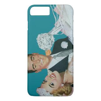 Vintage Wedding Newlyweds, Happy Bride and Groom iPhone 8 Plus/7 Plus Case
