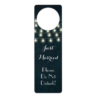 Vintage Wedding Night Honeymoon Do Not Disturb Door Hanger