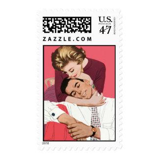 Vintage Wedding or Save the Date Postage