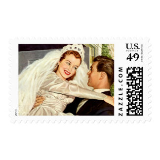 Vintage Wedding or Save the Date Stamp