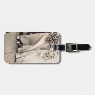 Vintage Wedding Party Bag Tag