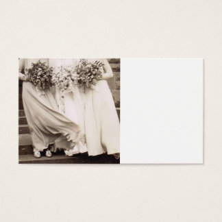 Vintage Wedding Party Business Card