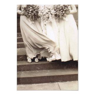 Vintage Wedding Party 5x7 Paper Invitation Card