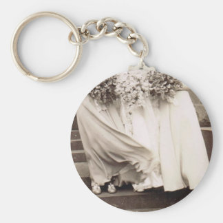 Vintage Wedding Party Keychain