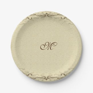 Vintage Wedding Party or any other party occasion 7 Inch Paper Plate
