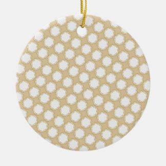 Vintage Wedding Pattern - Customize Ceramic Ornament