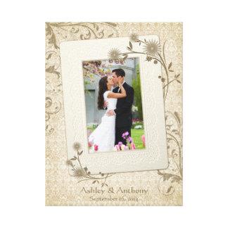 Vintage Wedding Photo Template Canvas Picture