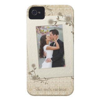 Vintage Wedding Photo Template iPhone 4 Case