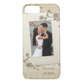 Vintage Wedding Photo Template iPhone 7 Case
