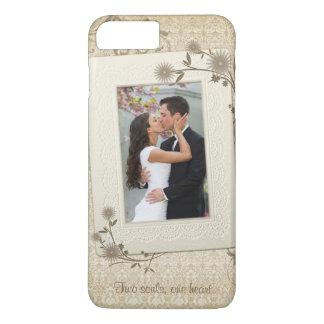 Vintage Wedding Photo Template iPhone 7 Plus Case