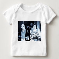 Vintage Wedding Picture - Happy Couple (Cyanotype) Baby T-Shirt