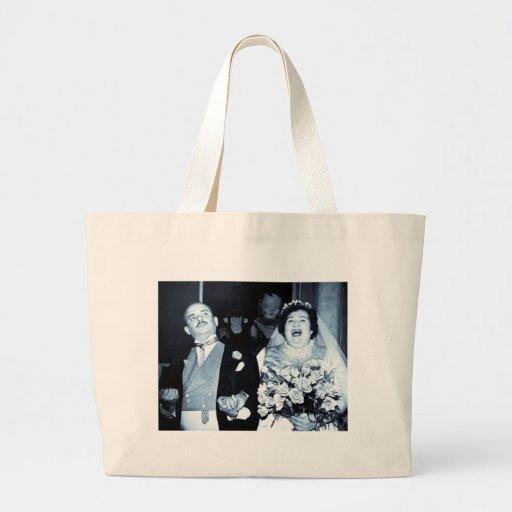 Vintage Wedding Picture - Happy Couple (Cyanotype) Tote Bag
