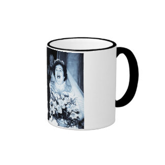 Vintage Wedding Picture - Happy Couple (Cyanotype) Coffee Mugs