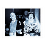 Vintage Wedding Picture - Happy Couple (Cyanotype) Postcards