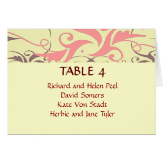 Vintage wedding place seating chart card