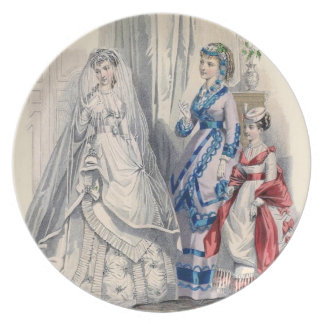 Vintage Wedding Plate