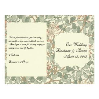 Vintage Wedding Program Floral