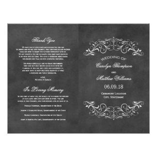 Vintage Wedding Programs | Chalkboard Flourish Custom Flyer