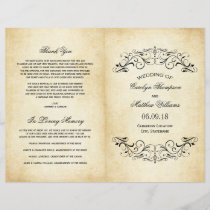 Vintage Wedding Programs | Elegant Flourish