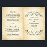 """Vintage Wedding Programs 