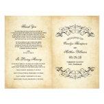 """Vintage Wedding Programs   Elegant Flourish 8.5"""" X 11"""" Flyer"""