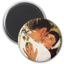 Vintage Wedding Proposal, Love and Romance Magnet