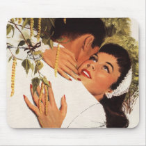 Vintage Wedding Proposal, Love and Romance Mouse Pad