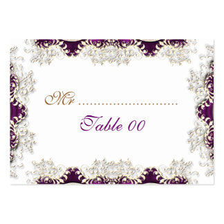 "Vintage wedding purple ""place cards"" large business card"