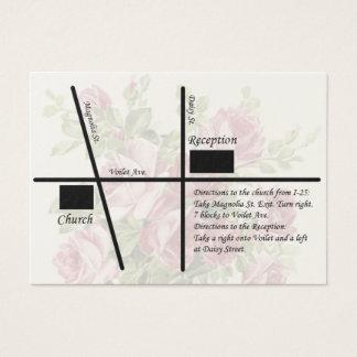 Vintage Wedding Reception Map Cards