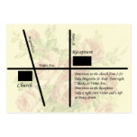 Vintage Wedding Reception Map Cards Business Cards