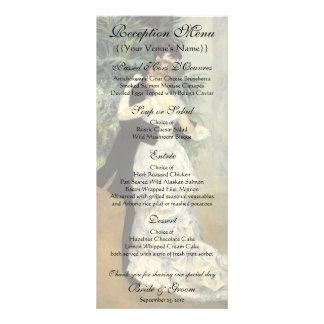 Vintage Wedding Reception Menu, City Dance, Renoir Personalized Rack Card