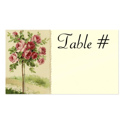 Vintage Wedding Reception Table Cards Business Card