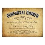 "Vintage Wedding Rehearsal Dinner Invite 4.5"" X 6.25"" Invitation Card"
