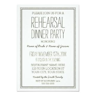 Vintage Wedding Rehearsal Dinner Party Card