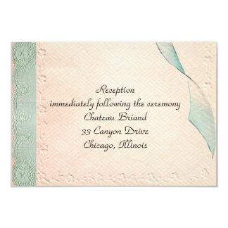 "Vintage Wedding Response Card 3.5"" X 5"" Invitation Card"