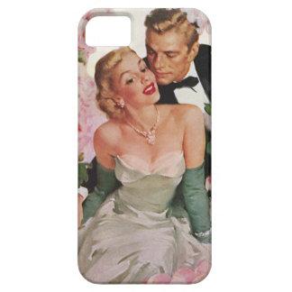 Vintage Wedding, Retro Bride and Groom Newlyweds iPhone SE/5/5s Case